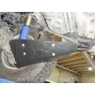 Ski de protection amortisseur HDJ80 / HZJ80 / FZJ80 / HDJ100 / HZJ105 (tirant pont Ø34) (paire)